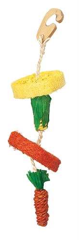 Happy pet natural loofah hangspeelgoed