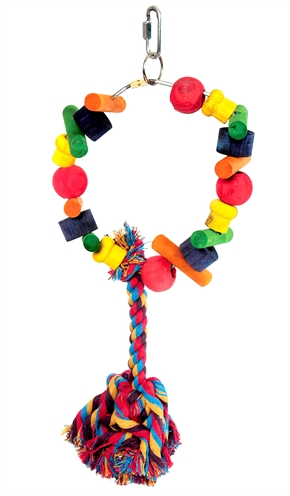 Happy pet speelgoed papegaai cartwheel assorti