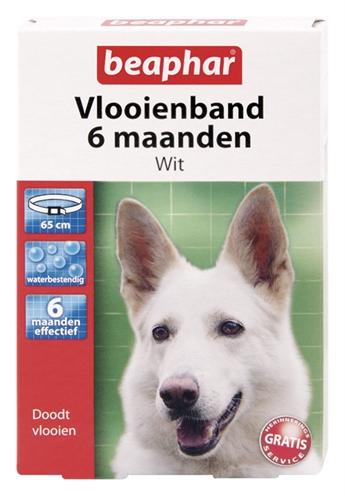 Beaphar vlooienband hond wit 6 mnd