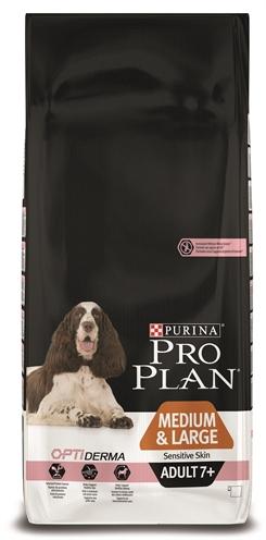 Pro plan dog adult medium / large 7+ sensitive skin