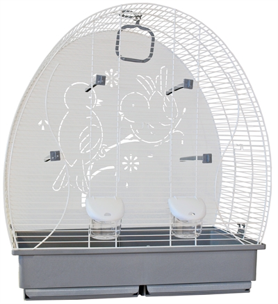 Voltrega vogelkooi 673 wit / grijs