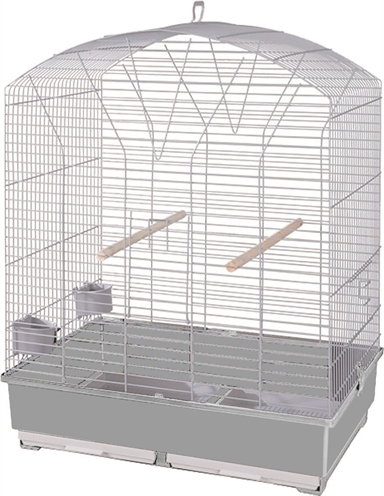 Voltrega vogelkooi 842 wit / grijs