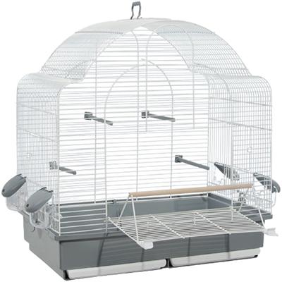 Voltrega vogelkooi 653 wit / grijs