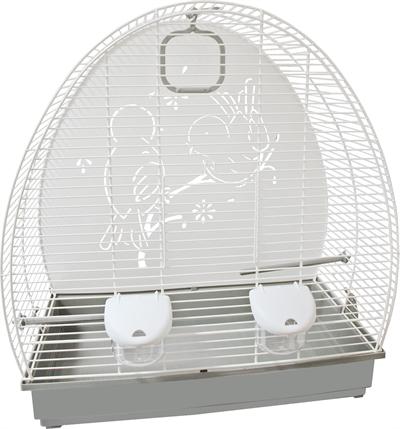 Voltrega vogelkooi 672 wit / grijs
