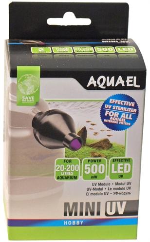 Aquael mini uv lamp uv-c 0,5 watt