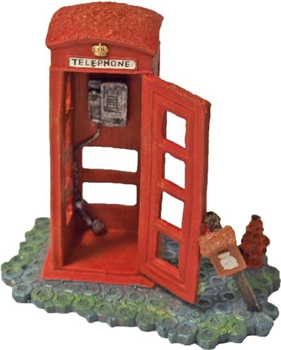 Decoratie telefooncel rood