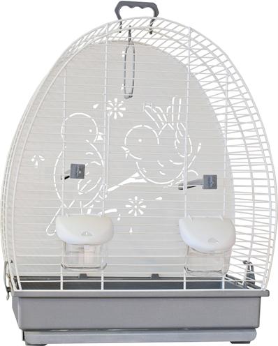 Voltrega vogelkooi 671 wit / grijs