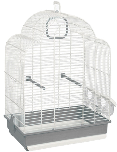 Voltrega vogelkooi 648 wit / grijs