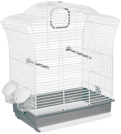 Voltrega vogelkooi 649 wit / grijs