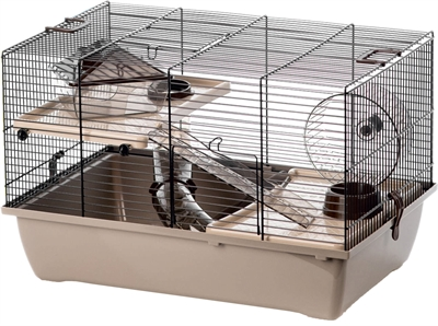 Interzoo hamsterkooi pinky2 mocca