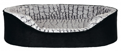 Trixie hondenmand lino memoryfoam zwart / grijs