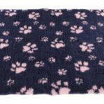 Vetbed poot donkerblauw / roze