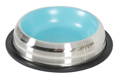 Zolux voerbak / drinkbak merenda rvs antislip blauw
