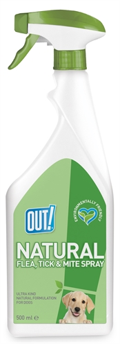 Out! natural flea tick and mite spray