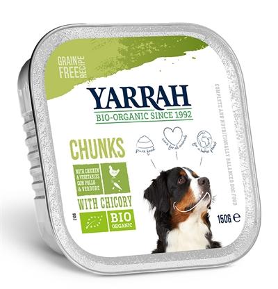 Yarrah dog alu brokjes kip / groente met cichorei in saus graanvrij