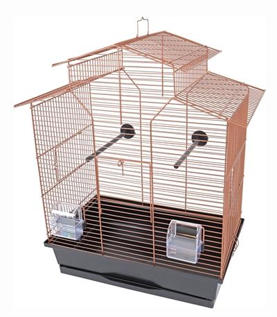 Interzoo vogelkooi iza 2 koper / zwart