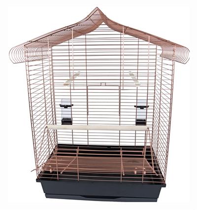Interzoo vogelkooi vega koper / zwart