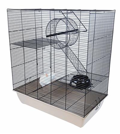 Interzoo rattenkooi rat 70 zwart / beige