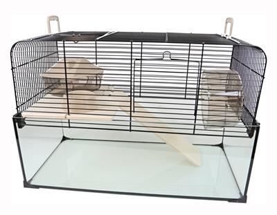 Interzoo hamsterkooi vision 51 zwart