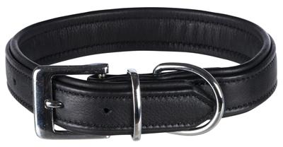 Trixie halsband hond active comfort leer zwart