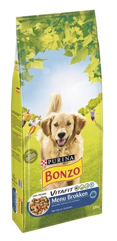 Bonzo droog menubrokken kip / groenten