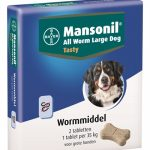 Mansonil grote hond all worm tasty tabletten