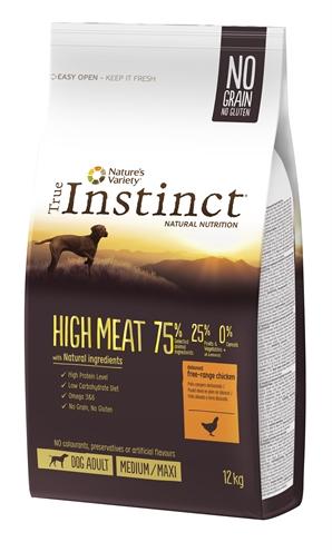 True instinct high meat medium adult chicken