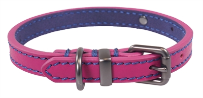 Joules halsband hond leer roze