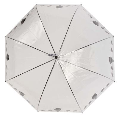 Paraplu vogels op draad transparant / zwart