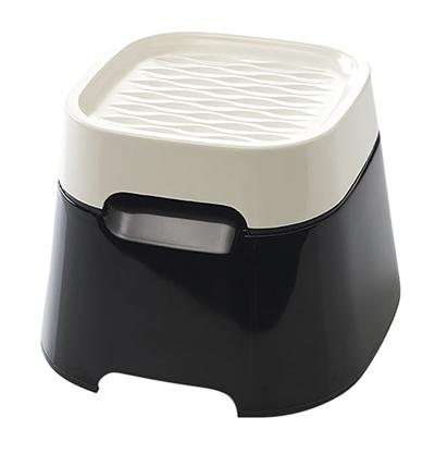 Savic ergo cube drinkbak creme / zwart