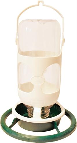 Plastic flesautomaat wijd groen / wit