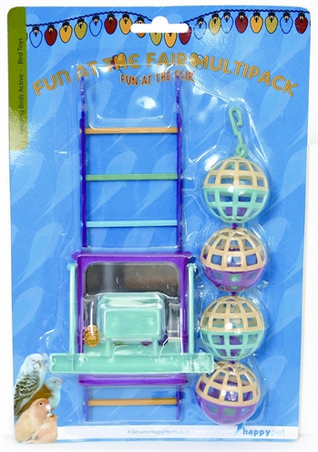 Happy pet bird toy mp bal/ladder/perch