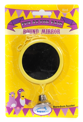 Happy pet fun at the fair round mirror