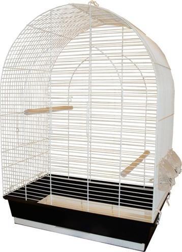 Vogelkooi big lucie wit/zwart
