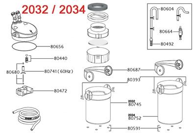 Eheim filterpot voor 2233/2234