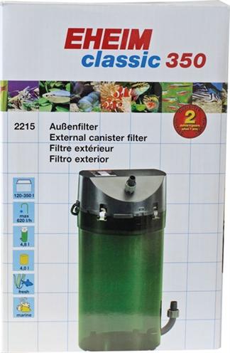Eheim classic 350 buitenfilter zonder filtermassa