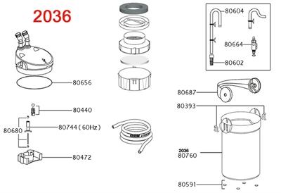Eheim filterpot voor 2235/2236