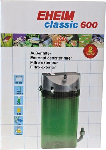 Eheim classic 600 buitenfilter zonder filtermassa