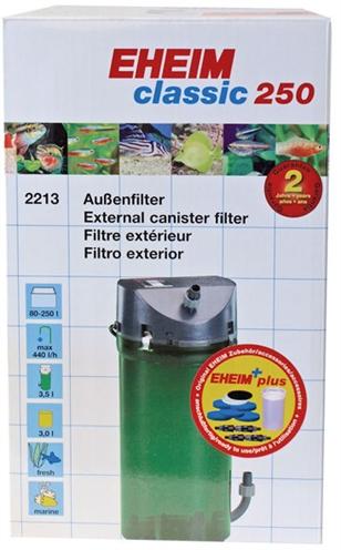 Eheim classic 250 buitenfilter met filtermassa
