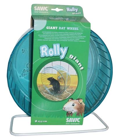 Savic plastic rattenmolen met standaard rolly giant