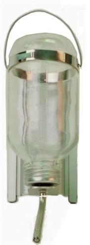 Drinkfles glas met houder en u profiel
