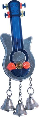 Parkieten speelgoed gitaar met spiegel en bellen