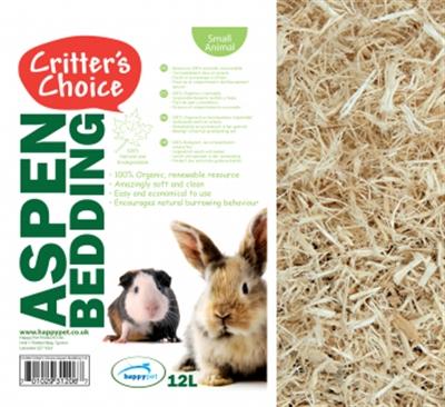Critter's choice aspen bedding