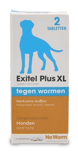Exitel plus hond no worm tabletten