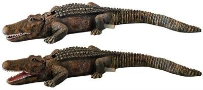 Bubbel ornament krokodil