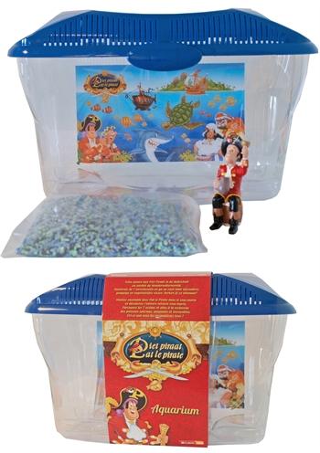 Plastic aquarium piet piraat met gravel